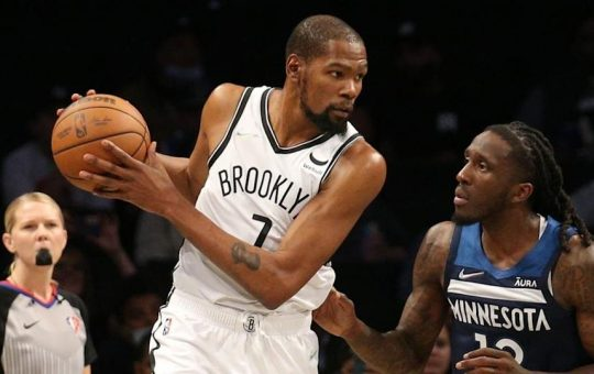 Kevin Durant reacts to Nets' decision to not play Kyrie Irving: 'We are not going to change his mind'